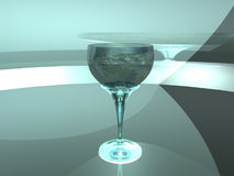 Globe as wineglass. Image 3D Royalty Free Stock Photo
