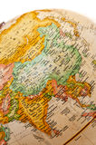 Globe - Asia. Part of a globe with map of Asia stock photo