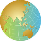 Globe Asia. Globe map illustration of the Asia Pacific Stock Photography