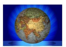 Globe Asia Royalty Free Stock Photography