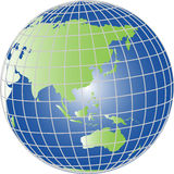 Globe asia and australia Stock Images