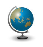 Globe with Asia and Australia Stock Photography