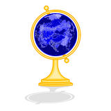 Globe Asia at night  as engraving vector Royalty Free Stock Photos
