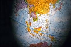Globe (Asia Region). With shadow stock photography