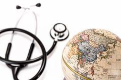 Globe (Asia ) and stethoscope Royalty Free Stock Photos