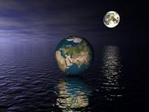 Globe Asie illustration libre de droits