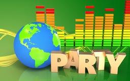 globe audio de la terre du spectre 3d Photographie stock libre de droits