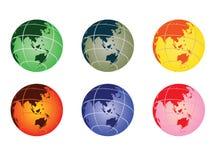 Globe - australia. Set of globe vector illustrations - australia Royalty Free Stock Image