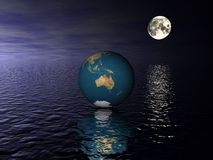 Globe Australia Royalty Free Stock Photo