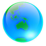 Globe Australia -no shadow Royalty Free Stock Photos