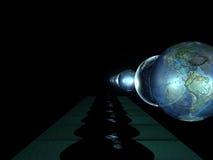 Globe avec de nombreuses réflexions Photo stock