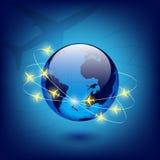 Globe avec des avions Images stock