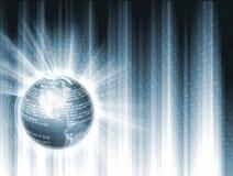 Globe avec des données financières Image stock