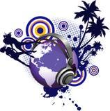 Globe avec des femmes de la jeunesse de danse. Photographie stock libre de droits