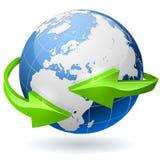Globe avec des flèches Images stock
