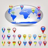 Globe avec des indicateurs Photos libres de droits