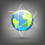 Globe avec des orbites Photo libre de droits