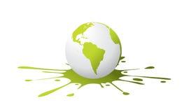 Globe avec l'éclaboussure de peinture illustration de vecteur