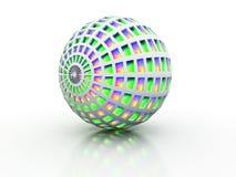 Globe avec l'éclat intérieur coloré Photographie stock libre de droits