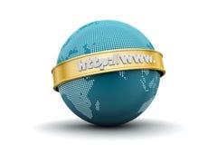 Globe avec l'adresse de Web image libre de droits