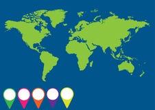 Globe avec l'application de signaux Image stock