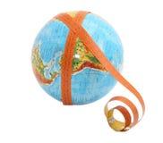 Globe avec la bande de mesure Images libres de droits