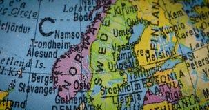 Globe avec la carte du pays de la Suisse banque de vidéos