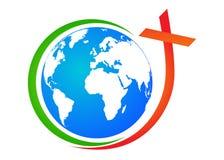 Globe avec la croix Photographie stock libre de droits