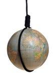 Globe avec la potence noire Photographie stock