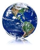 Globe avec la réflexion illustration stock