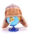 Globe avec le chapeau Images libres de droits