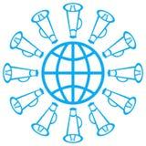 Globe avec le haut-parleur Photos stock