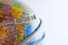 Globe avec le réseau images stock