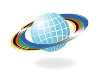 Globe avec les couleurs du f Photographie stock