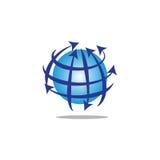 Globe avec les lignes et les flèches circulaires Photo libre de droits