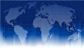 Globe Background. Blue background with map of the globe on it stock illustration