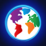 Globe Background Represents Planet Abstract And Template Royalty Free Stock Photos