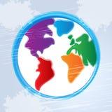 Globe Background Represents World Worldwide And Backdrop Stock Photography