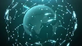 Globe Background. Seamless Looped 3D animation 4k royalty free illustration