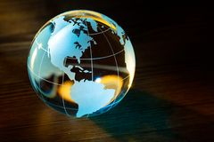 Globe. Backgrounds Earth Black Blue World Map Planet stock photography