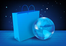 Globe and bag Royalty Free Stock Image