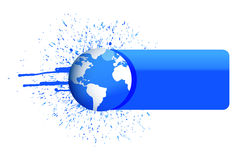 Globe banner Royalty Free Stock Photography