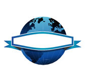 Globe and banner Royalty Free Stock Photo