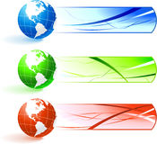 Globe banners Royalty Free Stock Photos