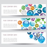Globe banners. A set of globe banners. Also available in vector format Stock Photos