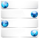 Globe banners Royalty Free Stock Images
