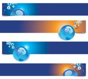 Globe banners set Royalty Free Stock Photo
