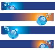 Globe banners set royalty free illustration
