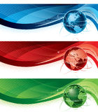 Globe banners Stock Photography