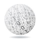 Globe binaire Photographie stock libre de droits